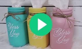 Chalk Mason Jars