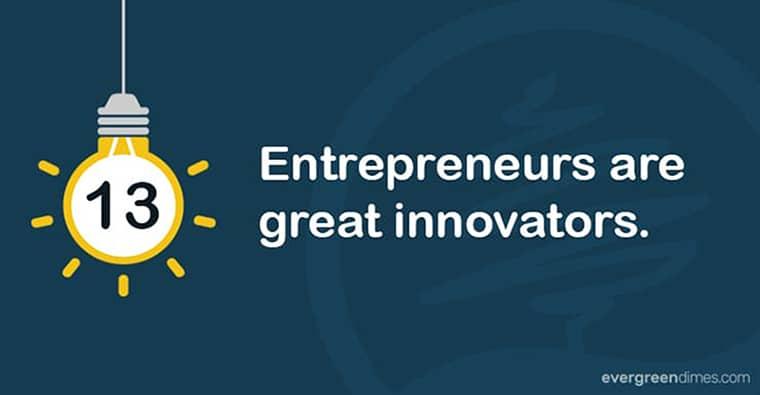 Entrepreneurs Are Innovative